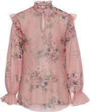 Blusa con volants (rosa) - BODYFLIRT