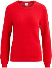 VILA Knitted Long Sleeved Top Women Red