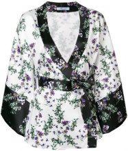 Blumarine - kimono blouse - women - Polyester/Spandex/Elastane - 40, 42 - WHITE