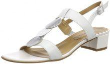Tamaris 28236, Sandali con Cinturino alla Caviglia Donna, Bianco (Wht Lea/Silver), 41 EU