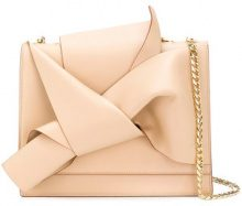 Nº21 - draped front tote bag - women - Leather - One Size - NUDE & NEUTRALS