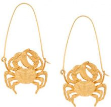 Givenchy - crab earring - women - Brass/Polyester - OS - METALLIC