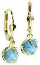 InCollections - Orecchini pendenti per bambini con turchese, oro giallo 8k (333), cod. 0050160102401
