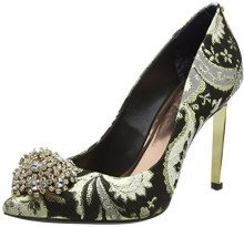 Ted Baker Peetch Text AF Ornate, Scarpe col Tacco Punta Chiusa Donna, Multicolore (Paisley), 41 EU