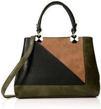 SwankySwans Violet Color Block Handbag - Borse Tote Donna, Verde (Olive), 12x28x30 cm (W x H x L)