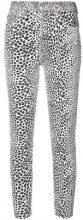 Re/Done - high rise cheetah skinny jeans - women - Cotone/Spandex/Elastane - 24, 25, 26, 27, 28, 29, 30 - WHITE