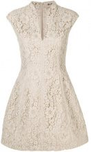Blanca - Mini abito a fiori in pizzo - women - Viscose/Cotton/Polyamide - 40, 42 - NUDE & NEUTRALS
