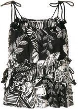 See By Chloé - Top a fiori - women - Cotton/Viscose - 34, 38, 36, 40, 32 - BLACK