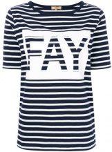 Fay - T-shirt a righe - women - Cotton - S, XL - BLUE