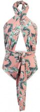 Patbo - botanical print swimsuit - women - Polyamide/Elastodiene - S, M, L - PINK & PURPLE