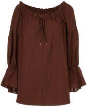 Cityshop - Blusa con maniche increspate con spalle scoperte - women - Polyester - OS - BROWN