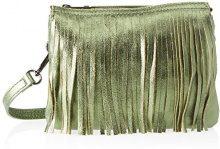 Chicca Borse 1612, Borsa a Spalla Donna, Verde (Verde), 28x16x5 cm (W x H x L)