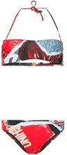 Moschino - magazine motif bikini - women - Polyester/Spandex/Elastane - 3, 4 - RED