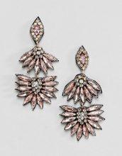 ASOS DESIGN - Orecchini pendenti con cristalli e pietre - Multicolore