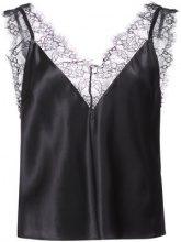 Fleur Du Mal - Margo lace trim V-neck cami - women - Silk/Polyamide - XS, S, M, L - BLACK