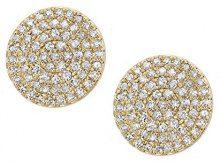 Naava Orecchini a Perno da Donna, Oro Giallo, 9 Carati, Diamante