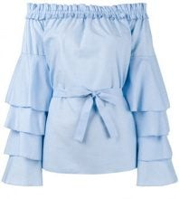 Jour/Né - Top con manica a balze - women - Cotton - 34, 36, 38, 40 - BLUE