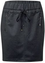 Street One Happy L50 Jog Skirt w Gallon Detail, Gonna Donna, Grau (Coal Grey Melange 11120), 42