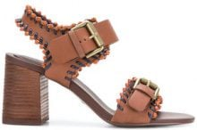 See By Chloé - Sandali 'Romy City' - women - Leather/rubber - 36, 36.5, 40, 37, 37.5, 41, 35, 38, 38.5, 39 - BROWN
