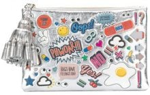 Anya Hindmarch - Pouch Stickers - women - Patent Leather - OS - METALLIC