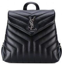 Saint Laurent - zaino piccolo con monogramma - women - Leather - One Size - BLACK