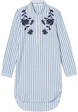 FIND Blosson Embroidered Shirt Vestito Donna, Blu (Blue/white), 40 (Taglia Produttore: X-Small)