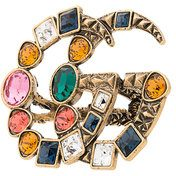Gucci - Anello decorato - women - Metal (Other)/Crystal - S, M, L - MULTICOLOUR