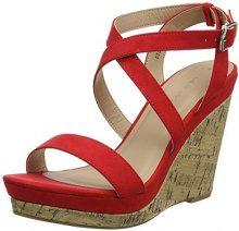 New Look Oiler, Scarpe con Cinturino alla Caviglia Donna, Red (Bright Red 60), 40 EU