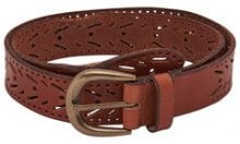 ONLY Leather Belt Women Brown