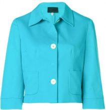 Dolce & Gabbana Vintage - fitted jacket - women - Cotton/Acetate/Rayon/Spandex/Elastane - 42 - BLUE