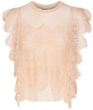 ONLY Lace Sleeveless Top Women Beige