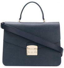 Furla - Metropolis medium tote - women - Calf Leather - One Size - BLUE