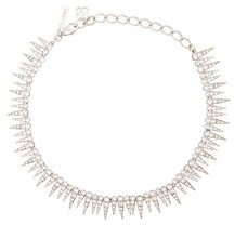 Oscar de la Renta - sea urchin necklace - women - Pewter/Crystal/Brass/Gold - OS - METALLIC