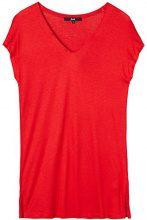 FIND T-Shirt Donna con Scollo a V, Rosso (Classic Red), 42 (Taglia Produttore: Small)