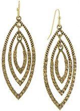 1928 Jewelry-Tone Gold-Orecchini a pendente, con cristalli color topazio chiaro 24740