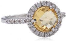 Nomination - Sofia, Anello in argento 925 con citrina, donna, 12