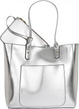 Borsa shopper metallizzata (Argento) - bpc bonprix collection