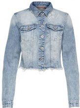 ONLY Raw Denim Jacket Women Blue