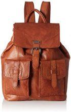 Spikes & Sparrow Backpack - Zaini Unisex Adulto, Braun (Dark Brown), 10x34x32 cm (B x H T)