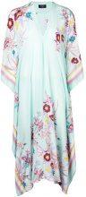 Holland Street - floral print kaftan beach dress - women - Silk - OS - BLUE