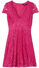 FIND Lace Fit and Flare Vestito Donna, Rosa (Fushia), 42 (Taglia Produttore: Small)