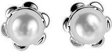 ORPHELIA dreambase-orecchini 925 argento rodiato perla taglio rotondo bianco - ZO-6021