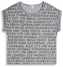 ESPRIT 077ee1k048, T-Shirt Donna, Multicolore (Medium Grey 5 039), Small