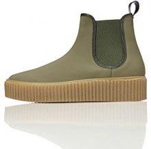 FIND Sneaker con Plateau Donna, Verde (Khaki), 40 EU