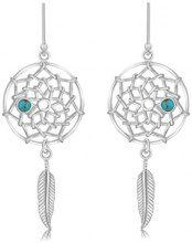 Tuscany Silver Orecchini a pendolo e goccia Donna argento Argento sterling 925 turchese rotonda - 8.59.0519