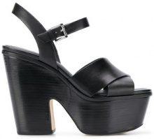 Michael Michael Kors - Sandali con zeppa - women - Leather/rubber - 5, 8,5, 9 - BLACK