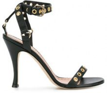 Twin-Set - eyelet stilettos - women - Leather - 37, 38, 39, 41 - BLACK