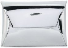 Mm6 Maison Margiela - metallic envelope clutch bag - women - Polyester/Polyurethane/Viscose - One Size - METALLIC