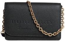Burberry - logo embossed chain wallet - women - Lamb Skin/Polyester - OS - BLACK