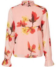 VERO MODA Floral Long Sleeved Top Women Pink